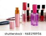 perfume bottles on light... | Shutterstock . vector #468198956