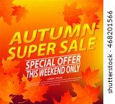 autumn sales banner   poster... | Shutterstock .eps vector #468201566