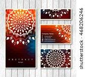 set of templates business ... | Shutterstock .eps vector #468206246