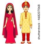 animation indian family. full... | Shutterstock .eps vector #468207068