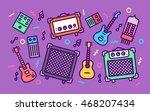 rock music equipment concept... | Shutterstock .eps vector #468207434