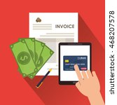 document credit card tablet... | Shutterstock .eps vector #468207578
