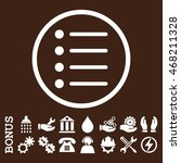 items vector icon. image style...