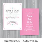 wedding invitation card  save... | Shutterstock .eps vector #468224156
