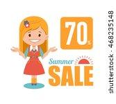 summer discounts   seasonal... | Shutterstock .eps vector #468235148