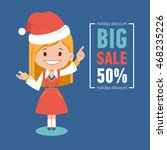 holiday discount   big sale... | Shutterstock .eps vector #468235226