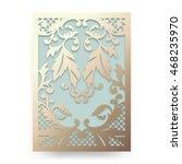 beautiful wedding invitation... | Shutterstock .eps vector #468235970
