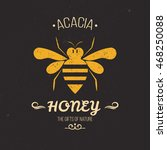 bee label. perfect logo for bee ... | Shutterstock .eps vector #468250088