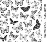 seamless pattern with hand... | Shutterstock .eps vector #468250598