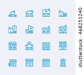 buildings icons   Shutterstock .eps vector #468251240
