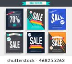 set sale poster with percent... | Shutterstock .eps vector #468255263