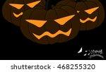 halloween vector. | Shutterstock .eps vector #468255320