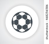 dark gray soccer ball icon ...