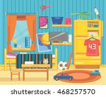 large children's room with... | Shutterstock .eps vector #468257570
