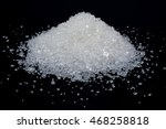 heap of white sugar on a black... | Shutterstock . vector #468258818