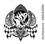 zentangle style zodiac sign ... | Shutterstock .eps vector #468263000
