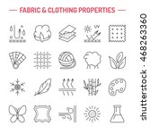 vector line icons of fabric... | Shutterstock .eps vector #468263360
