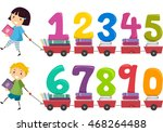 stickman illustration of kids... | Shutterstock .eps vector #468264488