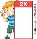 illustration of a little boy...   Shutterstock .eps vector #468264494