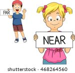 illustration of a little boy... | Shutterstock .eps vector #468264560
