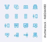 devices icons | Shutterstock .eps vector #468266480