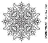 outline mandala ornament.... | Shutterstock . vector #468269750