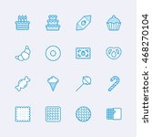 candy icons | Shutterstock .eps vector #468270104