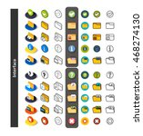 set of icons in different style ... | Shutterstock .eps vector #468274130