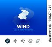 wind color icon  vector symbol...
