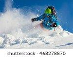 free ride skier running... | Shutterstock . vector #468278870