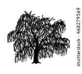 silhouette detached tree willow ... | Shutterstock .eps vector #468279569