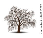 detached tree willow without... | Shutterstock .eps vector #468279626
