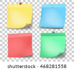 collection of different colored ... | Shutterstock .eps vector #468281558