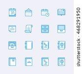 multimedia icons | Shutterstock .eps vector #468291950