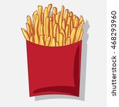 french fries. cooking... | Shutterstock .eps vector #468293960