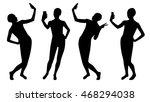 girl silhouettes taking selfie... | Shutterstock .eps vector #468294038