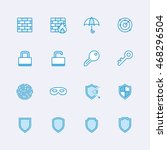 security icons | Shutterstock .eps vector #468296504