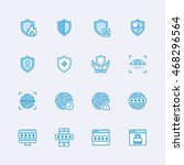 security icons | Shutterstock .eps vector #468296564