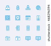 security icons   Shutterstock .eps vector #468296594