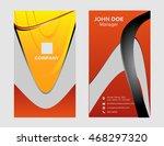 vertical business card  | Shutterstock .eps vector #468297320