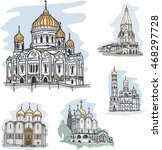 Set Of Churches In Moscow ...