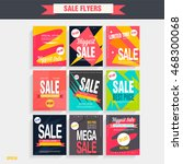 set sale poster with percent... | Shutterstock .eps vector #468300068