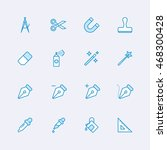 design tools icons | Shutterstock .eps vector #468300428