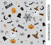 halloween symbol design element ...   Shutterstock .eps vector #468302534