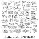 doodle calligraphic funny...   Shutterstock . vector #468307328