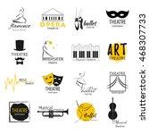 theater  ballet dance  opera...   Shutterstock .eps vector #468307733
