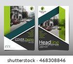 green fold cover business...   Shutterstock .eps vector #468308846