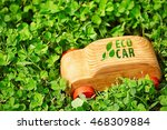 wooden toy car with text eco...