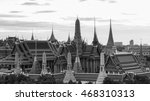 black and white  thailand grand ... | Shutterstock . vector #468310313