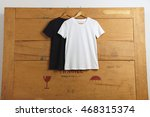 two different cotton t shirt... | Shutterstock . vector #468315374